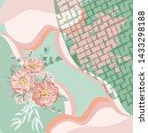 scarf floral pattern. bandana ... | Shutterstock .eps vector #1433298188