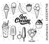 sketch ink graphic ice cream... | Shutterstock .eps vector #1433299748