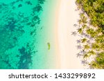 turquoise lagoon with a coral... | Shutterstock . vector #1433299892