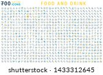 set of vector line icons of... | Shutterstock .eps vector #1433312645