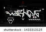 cyberpunk  warning lettering...   Shutterstock .eps vector #1433313125