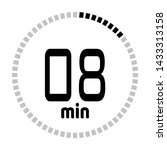 the 8 minutes countdown timer...