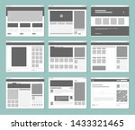 web pages layout. internet... | Shutterstock .eps vector #1433321465