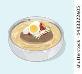 korean food cold noodles ... | Shutterstock .eps vector #1433322605