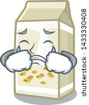 crying soy milk in the mascot... | Shutterstock .eps vector #1433330408