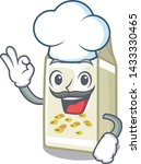 chef soy milk isolated with the ... | Shutterstock .eps vector #1433330465