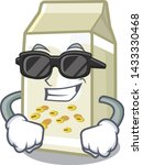 super cool soy milk isolated... | Shutterstock .eps vector #1433330468