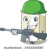 army soy milk in a cartoon box | Shutterstock .eps vector #1433330585
