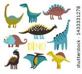 dinosaurus. vector dinosaur set ... | Shutterstock .eps vector #1433331278