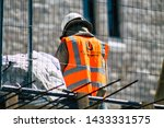 Small photo of Jerusalem Israel June 24, 2019 View of unknown Israeli worker building a permanent pluralistic prayer pavilion front the Western wall in the Old city of Jerusalem in the afternoon