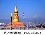 Pagoda At Tai Lue Temple In...