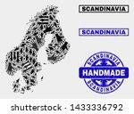 vector handmade composition of... | Shutterstock .eps vector #1433336792