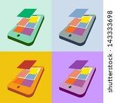 set of smartphone flat design...