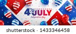 4th of july poster template.usa ... | Shutterstock .eps vector #1433346458