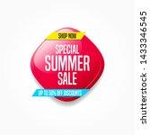 special summer sale shopping... | Shutterstock .eps vector #1433346545