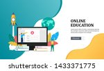 online education illustration...