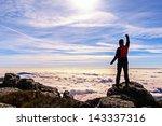 Man In The High Of The Mountai...