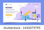money transfer landing page ... | Shutterstock . vector #1433375795