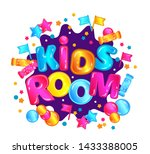 kids room   child play zone... | Shutterstock .eps vector #1433388005