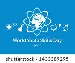 World Youth Skills Day Vector....
