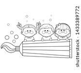 illustration of children... | Shutterstock . vector #1433389772