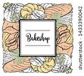 vector bakeshop brand logo with ... | Shutterstock .eps vector #1433390042