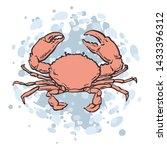vector illustration of red crab ... | Shutterstock .eps vector #1433396312