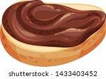 chocolate nut paste spread on... | Shutterstock .eps vector #1433403452