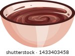 bowl with chocolate spread.... | Shutterstock .eps vector #1433403458