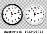 realistic office clock. wall... | Shutterstock .eps vector #1433408768