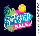 summer banner   summer sale... | Shutterstock .eps vector #1433415548