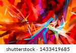 abstract colorful oil painting... | Shutterstock . vector #1433419685
