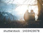 loving couple enjoys the... | Shutterstock . vector #1433423078