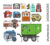 generator vector power... | Shutterstock .eps vector #1433425355