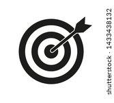 target bullseye with arrow ... | Shutterstock .eps vector #1433438132