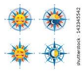 compass cute | Shutterstock .eps vector #143345542