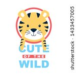 cute of the wild slogan and... | Shutterstock .eps vector #1433457005