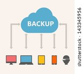 Cloud Service - stock vector