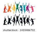 colorful happy group people... | Shutterstock .eps vector #1433486702