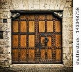 Old Door In Burgos  Castilla Y...