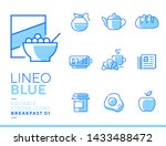 lineo blue   breakfast and... | Shutterstock .eps vector #1433488472