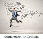 image of jumping young... | Shutterstock . vector #143348986