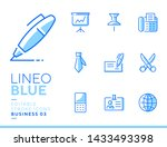 lineo blue   office and... | Shutterstock .eps vector #1433493398