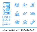 lineo blue   office and...   Shutterstock .eps vector #1433496662