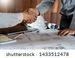 architect and engineer... | Shutterstock . vector #1433512478
