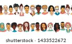 decorative diverse women's men... | Shutterstock .eps vector #1433522672