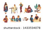 collection of people with hot... | Shutterstock .eps vector #1433534078