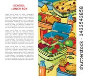 template with school lunch box  ... | Shutterstock .eps vector #1433543858