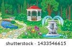 vector image of summer garden...   Shutterstock .eps vector #1433546615