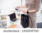 Businesswoman In Brown Dress...